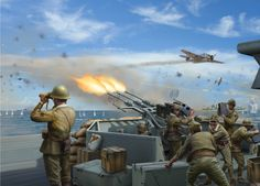 TYPE 96 25mm AA GUNS del IJN Yamato