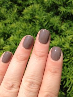 CND Shellac Rubble.  The only gray-ish color I've liked so far.  Good stuff, it survived a Mud Run!