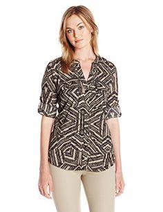 df90110ec Calvin Klein Lingerie, Calvin Klein Women, How To Roll Sleeves, Button  Downs, Button Down Shirt, Blouses, Crew Neck, Shops, Surface Finish