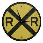 Railroad Crossing Clock by TheBigClockStore on Etsy Train Bedroom, Bedroom Clocks, Clocks Back, Wall Clocks, Bedroom Themes, Bedroom Ideas, Nursery Ideas, Kids Bedroom, Clock For Kids
