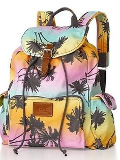New! Victoria's Secret PINK ♥ Backpack Palm Tree Backpack♥Just ordered mine, for the beach!!
