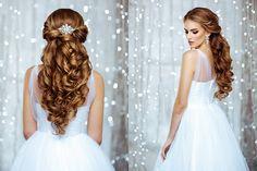 Fryzury ślubne długie włosy rozpuszczone z welonem