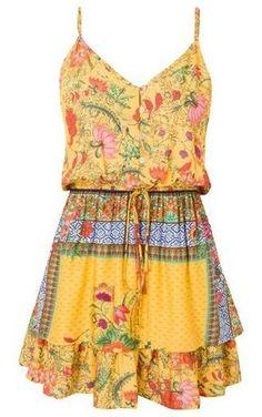 Vestido Lorena - amarelo