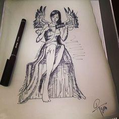 Tatoo - femme - ange