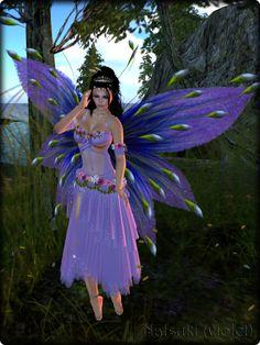 Faeline Fairy Wings - Natsuki (violet)