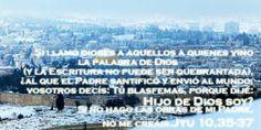 """EVANGELIO DE JUAN: """"HIJO DE DIOS SOY""""  Ju 10, 35-37"""