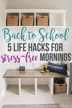 That fishbowl idea is GENIUS!    Simple Life Hacks for Stress-Free Back to…