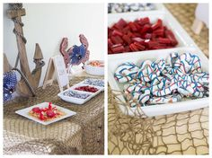 Nautical treat buffet on Made to be a Momma