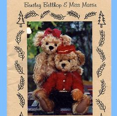 "373 Fully Jointed Old Fashion Mohair Teddy Bears, 12"" Bently Bellhop & Miss Mattie Full Size Vintage Sewing Pattern, Threads 'n Teds Uncut by ladydiamond46 on Etsy"