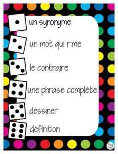 This+is+a+great+game+for+students+to+practice+their+vocabulary+knowledge+and+application+in+French.++May+be+played+in+partners,+teams,+or+individually.+A+word+is+chosen+by+the+teacher+or+student+-+I+prefer+to+use+words+of+the+week+(high-frequency+words)+or+unit-specific+vocabulary+from+science,+math,+social+studies,+etc.