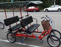 Surrey Bike 4 Person 4 People Surrey Bike 4 Wheeled Quadricycle For Bike Wagon, Bicycle Race, Pallet Furniture Bed, Bike Quotes, Cargo Bike, Mini Bike, Go Kart, Tricycle, Surrey