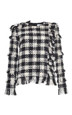 Check Tweed Top by MSGM for Preorder on Moda Operandi