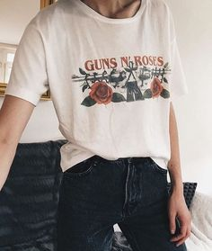 This is J | type | thisisj.com | love the font on this vintage Guns N' Roses Tshirt