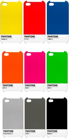 pantone phone covers for when I get tired of my leather case (never, but it's nice to dream about)