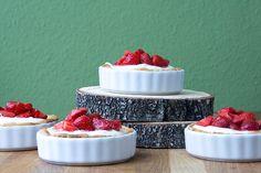 Frischkäste-Tarte mit Erdbeeren
