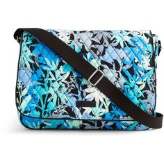Vera Bradley Laptop Messenger Crossbody in Camofloral ($88) ❤ liked on Polyvore featuring bags, camofloral, cross body, blue bag, flap crossbody bag, vera bradley and cross body laptop bag