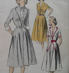 Fabulous Vintage 50's Misses Dress Pattern by Chief DESIGNER at MGM STUDIO Helen Rose Factory Folded. $35.00, via Etsy.