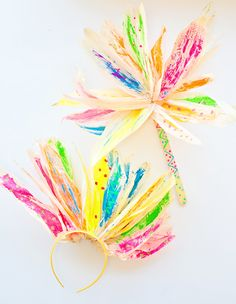 Corn Husk Flower Painting with Kids from Hello, Wonderful
