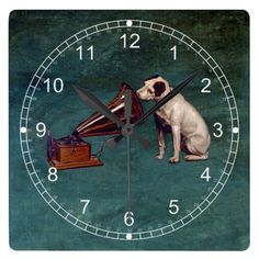 His Master's Voice Father's Day Wall Clock | Zazzle