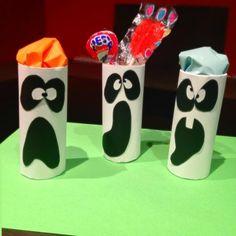 Decore a sua casa com esses recipientes fantasmas! #halloween #diy #fantasmas #decoração