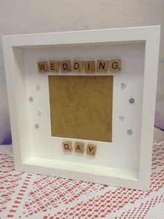 Wedding day scrabble tiles photo frame – In-house Factory Scrabble Letter Crafts, Scrabble Tile Crafts, Scrabble Wall, Box Frame Art, Shadow Box Frames, Scrabble Wedding, Wedding Frames, Wedding Cards, Wedding Ideas