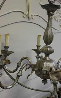 Maison Decor: Painting a Brass Chandelier!