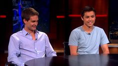Evan Spiegel & Bobby Murphy - The Colbert Report (Video Clip) Piano Tabs, Evan Spiegel, About Snapchat, Colbert Report, Color Songs, Social Media Video, Political Satire, Comedy Central