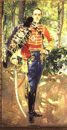 Joaquin Sorolla - Portrait of Alfonso XIII Wearing the Uniform of the Hussars