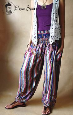 Boho summer pants - Find our shop at http://stores.ebay.de/Asian-Spirit-and-Art or connect with us on facebook http://www.facebook.com/asian.spirit.art