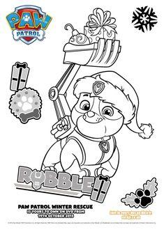 Paw Patrol Ausmalbilder Rubble Paw Patrol Coloring Pages, Quote Coloring Pages, Cartoon Coloring Pages, Disney Princess Coloring Pages, Disney Princess Colors, Rubble Paw Patrol, Disney Cartoons, Coloring For Kids, Artwork
