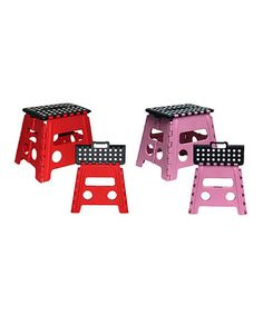 Folding Plastic Stool - Set Of Two