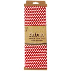 Red Polka Dot Fabric Polka Dot Fabric, Polka Dots, 2016 Calendar, Christmas Cards To Make, Diy Supplies, Fabric Online, Card Making, Red, Polka Dot
