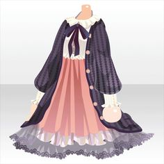 Anime Outfits, Dress Outfits, Cool Outfits, Kleidung Design, Girl Fashion, Fashion Outfits, Fashion Design, Anime Dress, Cute Pajamas