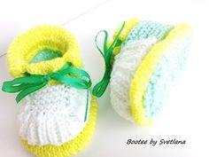 Tuto tricot : Chaussons bottines tricot tuto partie 1 / Pantofole bambin...