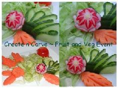 food carving tutorial | simply.food: White Radish and Carrot Roses - Fruit and Veg Carving