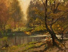 Thomas Edwin Mostyn - Morning, Burnham Beeches, Buckinghamshire