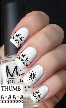 SUPER COOL winter nails!