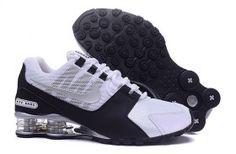 Mens Nike Shox NZ White Black Silver Athletic Running Shoes Trainers Nike  Shox Nz a3e7fb670