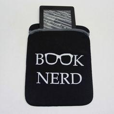 Book Nerd Kindle Case E Reader Cover iPad Mini Case by ModLux