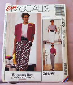 1989 Uncut Easy McCall's  Pattern 4105  by lovelylovepatterns, $4.00
