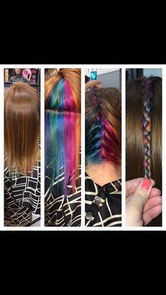 Rainbow Hair Underneath Cuts Color I Iike Hair Rainbow Hair