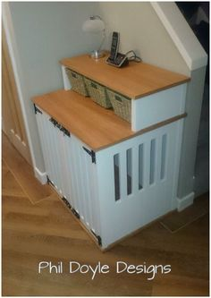 Dog Crate & Console table practical hall way solution.