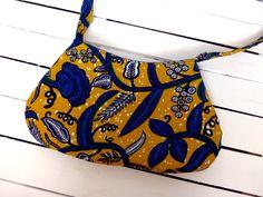 Cute African wax print bag.