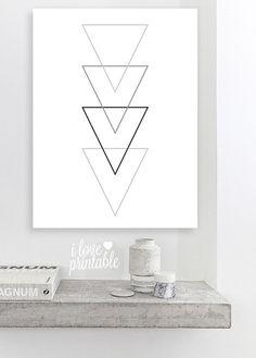 Triangle Print Printable Wall Art Geometric by ILovePrintable