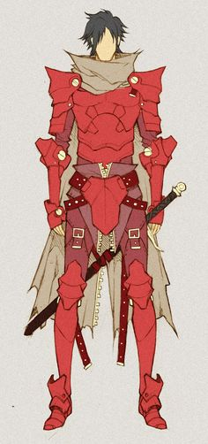 Crimson Knight - concept by *MizaelTengu on deviantART ✤    CHARACTER DESIGN REFERENCES   キャラクターデザイン • Find more at https://www.facebook.com/CharacterDesignReferences if you're looking for: #lineart #art #character #design #illustration #expressions #best #animation #drawing #archive #library #reference #anatomy #traditional #sketch #development #artist #pose #settei #gestures #how #to #tutorial #comics #conceptart #modelsheet #cartoon    ✤