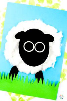 Spring Lamb Craft for kids to make. Spring Art Projects, Spring Crafts For Kids, Easy Art Projects, Crafts For Kids To Make, Art For Kids, Easy Preschool Crafts, Easy Arts And Crafts, Easy Paper Crafts, Lamb Craft