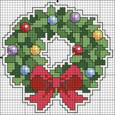 Wreath Christmas perler bead pattern