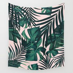 Buy Tropical Jungle Leaves Pattern #5 #tropical #decor #art #society6 Wall Tapestry by anitabellajantz. Worldwide shipping available at Society6.com. Just one of millions of high quality products available.