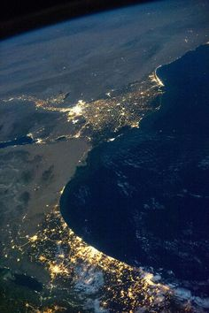 Nile river from space