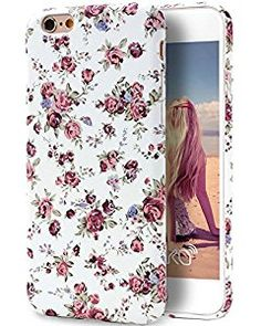 Amazon.com: iPhone 6S Case, Imikoko™ Retro Vintage Floral Print Flower Pattern Hard High Impact Slim Protective Case For iPhone 6s/6 (Style I): Cell Phones & Accessories